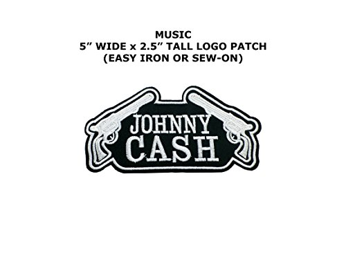Johnny Cash Music Band Embroidered Iron/Sew-on Comic Cartoon Theme Logo (Johnny Cash Costume)