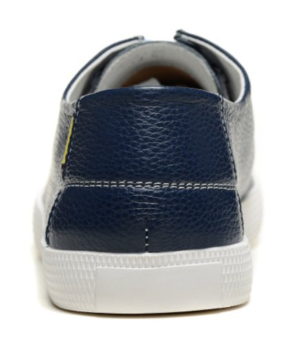 Dilize Men's Smart Lace Up Sneakers Summer Casual Board Shoes Dark Blue Sg9OqwB