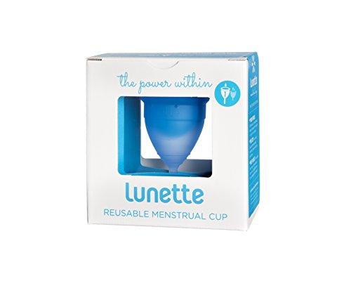 Lunette Menstrual Cup - Blue - Model 1 for Light to Medium Menstruation - Natural Alternative for Tampons and Sanitary Napkins