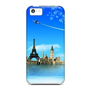 Durable Defender Case For Iphone 5c Tpu Cover(wonders Of The World)