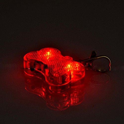 MR.Jiang Dog Bone LED Flashing Pet Dog Blink Light Tag Collar Cute Safety ()
