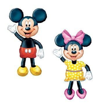MICKEY & MINNIE Air WALKER AIRWALKER Huge Birthday Party Mylar Helium Balloons by LGP