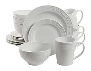 Gibson Home 16 Piece Amelia Court Dinnerware Set White  sc 1 st  Castrophotos & Gibson 16 Piece Dinnerware - Castrophotos