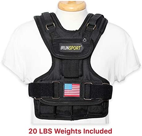 IRun Sport Women Weighted Vest, Crossfit Strength Training Vests, 20lbs