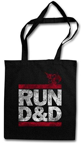 RUN D&D Hipster Shopping Cotton Bag Borse riutilizzabili per la spesa