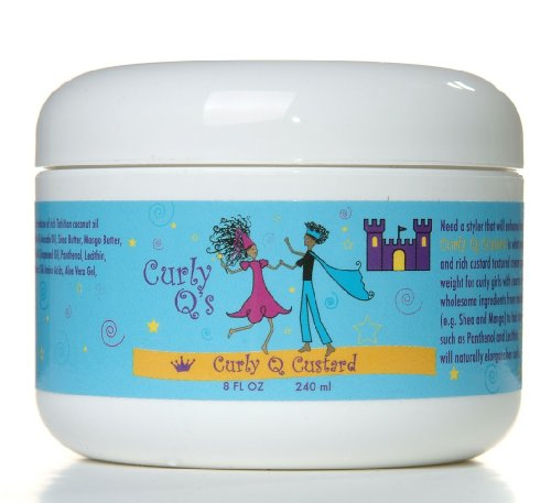 Curly Q в Кудрявые Q заварным Средний Curl Styling Cream, 8-унция Jar