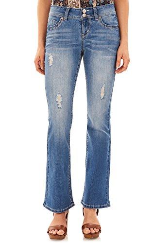 WallFlower Juniors Luscious Curvy Basic Bootcut Jeans in Margot, 3