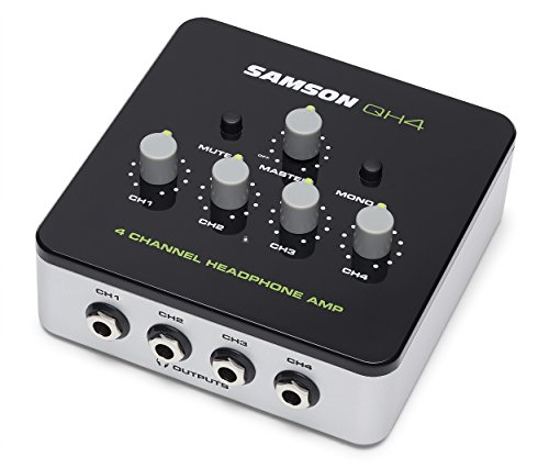 (Samson QH4 4-Channel Studio Headphone Amplifier)
