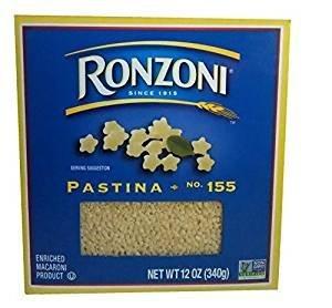 Ronzoni Pastina Enriched Macaroni Non GMO 12 Oz. Pack Of 3.