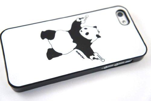 Banksy Panda Graffiti iphone 5 5S Case Back Cover Metall und Kunststoff