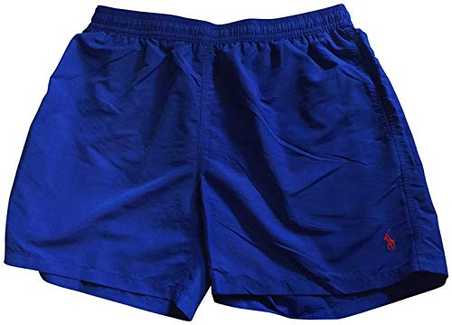 Polo by Ralph Lauren Mens Solid Classics Swim Trunks Dark Blue XL