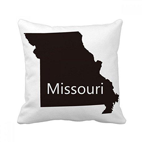 DIYthinker Missouri America USA Map Silhouette Square Throw Pillow Insert Cushion Cover Home Sofa Decor Gift