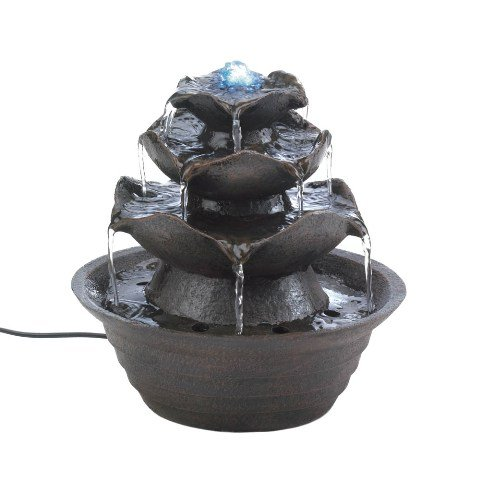 Eastwind Gifts 10016930 Lotus Tabletop Water Fountain