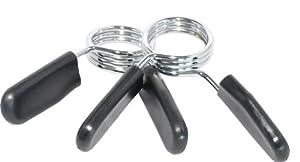 Federverschluß - Clipverschluss für Hantelstangen Paar, silber/schwarz 30mm Ø...