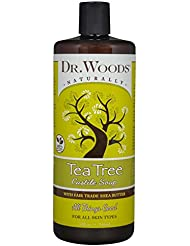 Dr. Woods Pure Tea Tree Castile Soap with Organic Shea Butter, 32 Ounce