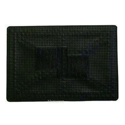 Single Universal Rubber Car Mat - Black MDC