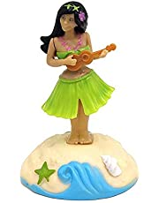 perfecti Muñeco Solar, Figura Solar Plástico,Muñeca Hawaiana Bailarina para Coche Girl Dashboard Muñeca Solar Powered Hawaii Dolls Car Ornaments