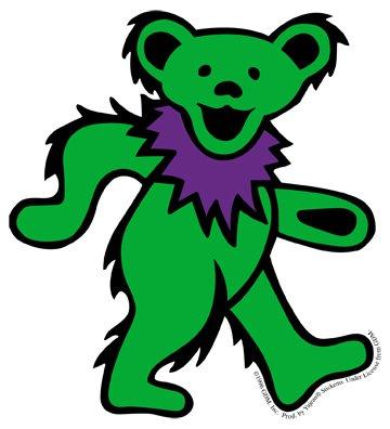 Amazoncom Grateful Dead Large Green Dancing Bear Sticker