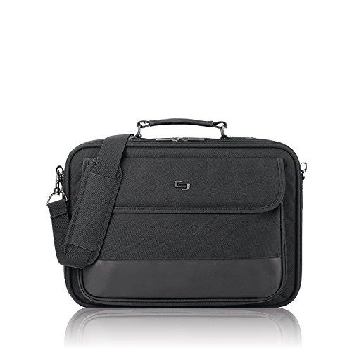 Solo Rockefeller 15.6 Inch Laptop Slim Brief, Black