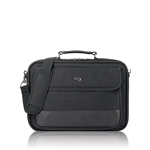 Solo Rockefeller 15.6 Inch Laptop Slim Brief, Black by SOLO