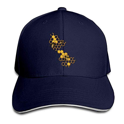 JHDHVRFRr Hat Bee Yellow Denim Skull Cap Cowboy Cowgirl Sport Hats Men Women