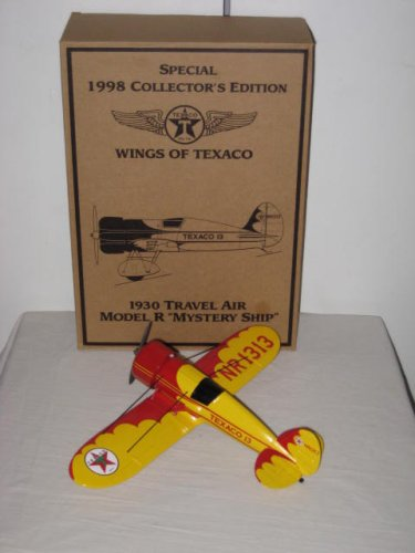 Price comparison product image Texaco Special 1998 Collector's Edition Ertl Diecast 1930's Travel Air Model Mystery Ship NR1313 Wings Of Texaco Coin Bank