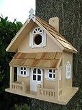 Home Bazaar Hand-made Victorian Yellow Bird House - Bird Friendly - Home Decor