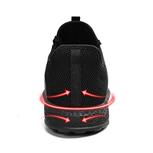 dc03c3bb65b7b0 ... ZOCAVIA Mens Sneakers Ultra Lightweight Breathable Mesh Sport Walking  Running Shoes, Black, ...