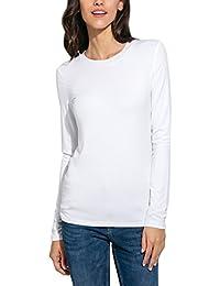 Women's Basic Long Sleeve Crew Neck Slim Fit Rayon Plain Tees Shirts Top (XS-XL)