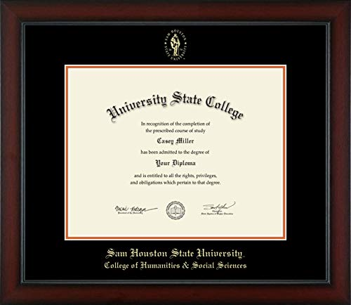 Sam Houston State University College of Humanities & Social Sciences - Officially Licensed - Gold Embossed Diploma Frame - Diploma Size 14
