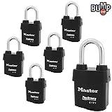 Master Lock - Six (6) High Security Pro Series Padlocks 6121NKALF-6 w/BumpStop Technology