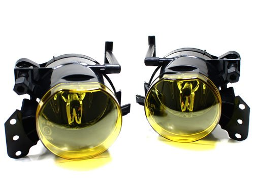 04-07 BMW E60 5-Series (525i 525xi 530i 530xi 545i 550i) OEM Factory Style Fog Lights - Yellow (2004 2005 2006 2007) (Yellow Fog 530i Bmw Lights)