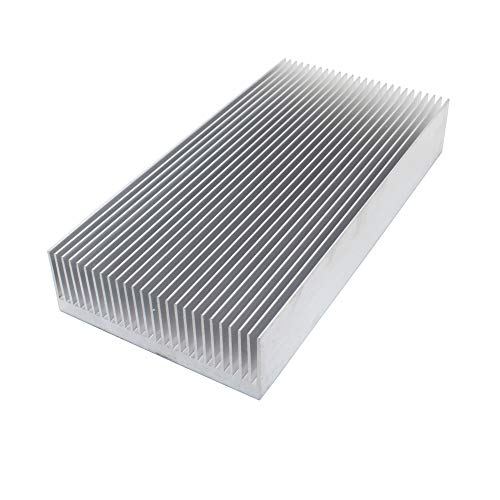 High Power 160x80x26.9mm / 6.3x3.15x1.06 inches Extruded Aluminum Heat Sink for Electronic LED Power Amplifier Cooler Cooling