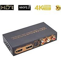 HDR HDMI 4k@60hz Audio Extractor arc converter | Audio Separator Coaxial Optical Fiber support UHD/HDCP2.2/ARC/EDID