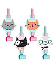 Creative Converting Purr-Fect Party Blowouts Party Supplies, Multicolor