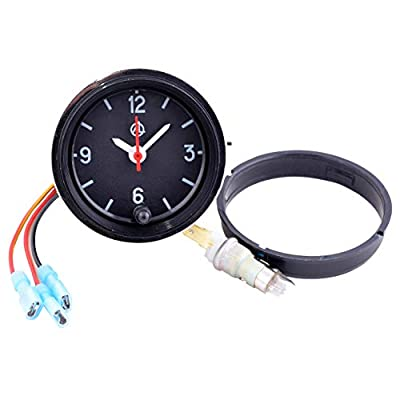 Car Dashboard Clock/Automotive Clock - Analog 12v Car Clock with LED Backlight Set - Round Quartz Automobile Clock for Classic, Vintage, Race or Muscle Cars - Retro Car Accessories: Watches