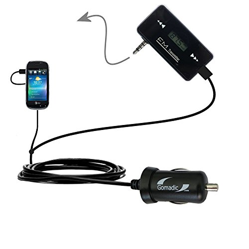 (Wireless New Generation FM Transmitter desinged for Dell Aero with Powerful Compact Car Charger Included )