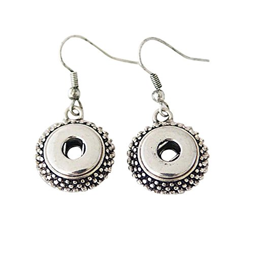 Chunk Snap Charm Earrings for Mini Petite Snaps 12mm (1/2