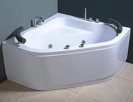 Vasca Da Bagno Doppia Misure : Vasca idromassaggio due posti con getti e rubinetteria