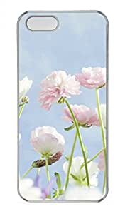 iPhone 5 5S Case Romantic Pink Flowers Funny Lovely Best Cool Customize iPhone 5S Cover Transparent