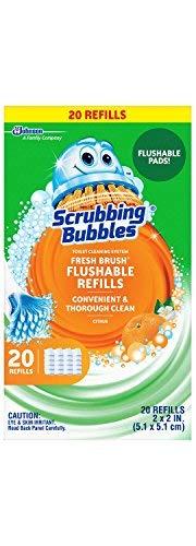 Scrubbing Bubbles Fresh Brush Flushable Refills, Citrus 20 CT by Scrubbing Bubbles