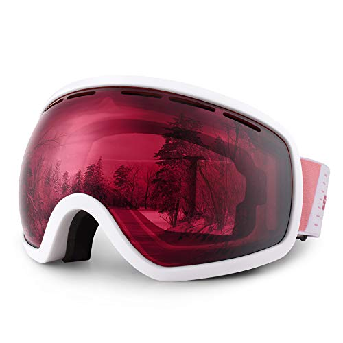 HUBO SPORTS Ski Snowboard Goggles for Men Women Adult,OTG Snow Goggles of Dual Lens with Anti Fog UV Protection for Youth Teenage