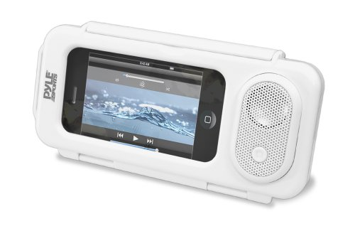 Pyle PWPS63WT Surf Sound Waterproof Portable Speaker Case for iPod, MP3 Player and Smartphone , White