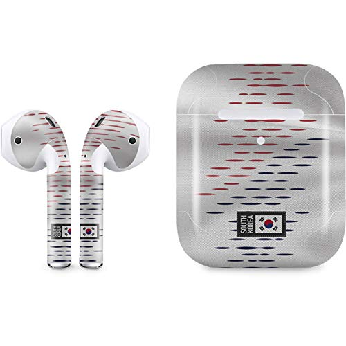 South Korea Soccer Flag Skin for Apple AirPods 2 | Skinit Countries of The World Decal Wrap to Cover AirPods 2 Case and Earbuds - Ultra Thin, Lightweight Vinyl Decal Protection