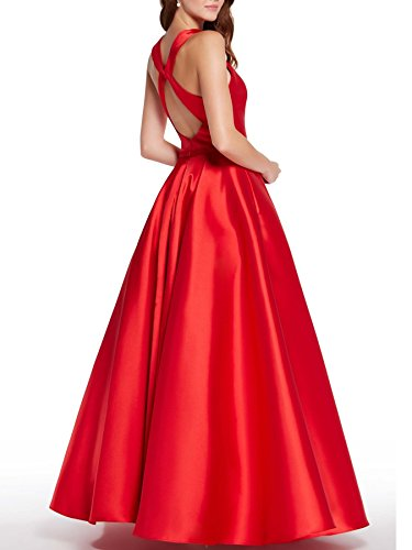 Beauty Halter With Evening Prom Bridal Womens Long Dress Formal Gowns Pockets Blue Party HgSqHwW