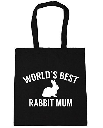 best 42cm Tote Gym rabbit 10 x38cm Beach World's Black Shopping HippoWarehouse mum Bag litres 4qxfnw