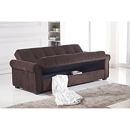 Houston Tufted Storage Futon Sofa Bed With Textured Linen  : 41D6s6osowL from www.bestsofasonline.com size 500 x 500 jpeg 31kB