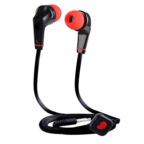 Eachbid Running Headphones Over Ear in Ear Noise Isolating Sport Earbuds Earphones with Remote and Mic Earhook Wired Stereo Workout Ear Buds for Jogging Gym for iPhone iPod Samsung Black