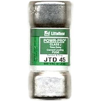 Littelfuse Jtd 45 Jtd045 45amp 600v Slow Blow Class J