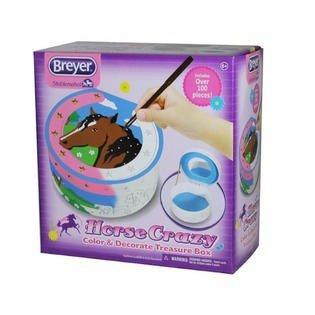 Breyer Horse Crazy Color and Decorate Treasure Box Craft Activity Set